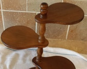 small three tiered wood shelf stand vintage for your special treasures.