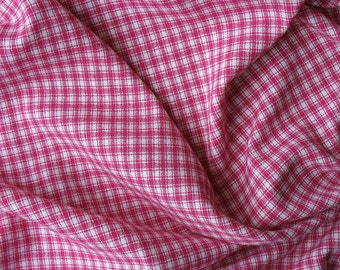 RESERVED for Sarah Pink and White Plaid Fabric Pink Plaid Fabric Dark Pink Watermelon Fabric - 5 Plus Yards - MSF1374