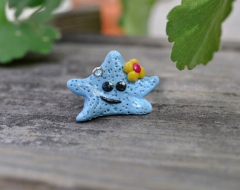 CHARM - Miniature Starfish Polymer Clay, Necklace, Bracelet, Decoration