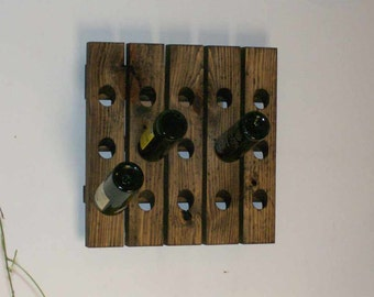 riddling rack distressed wood wall wine rack wedding gift