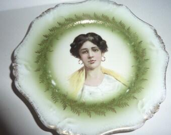 vintage Bavaria portrait plate