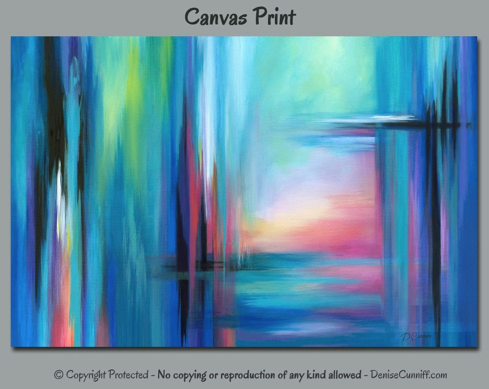 Abstract Wall Art Canvas Print Extra Large Office Wall