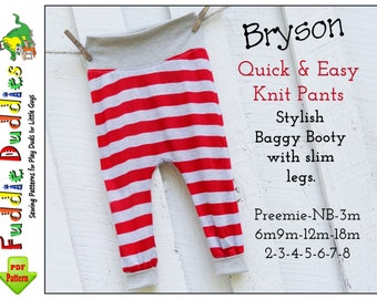 Bryson, Quick & Easy Boys Pants Pattern, pdf. Baby Sewing Pattern, Baggy Harem style. Toddler Boy's Pants Pattern. Boy's Sewing Pattern.