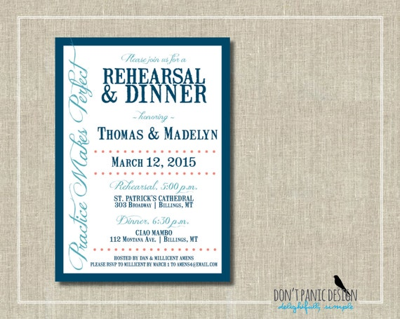 Who Do You Invite To Wedding Rehearsal Dinner: Rehearsal Dinner Invitation Fun Printable By DontPanicDesign