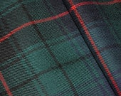 Davidson Tartan Fabric. 100% 10oz Pure New Wool. Remnant Piece. Modern and Ancient Available. Woven in Scotland.