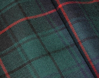 Davidson Modern Tartan Fabric. 100% 10oz Pure New Wool. Remnant Piece.