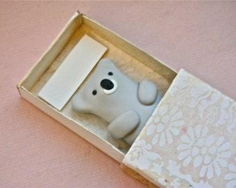 Koala Hug in a Box - Handmade Matchbox Figure pocket gift greeting card