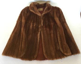 Vintage fur Stole / Capelet