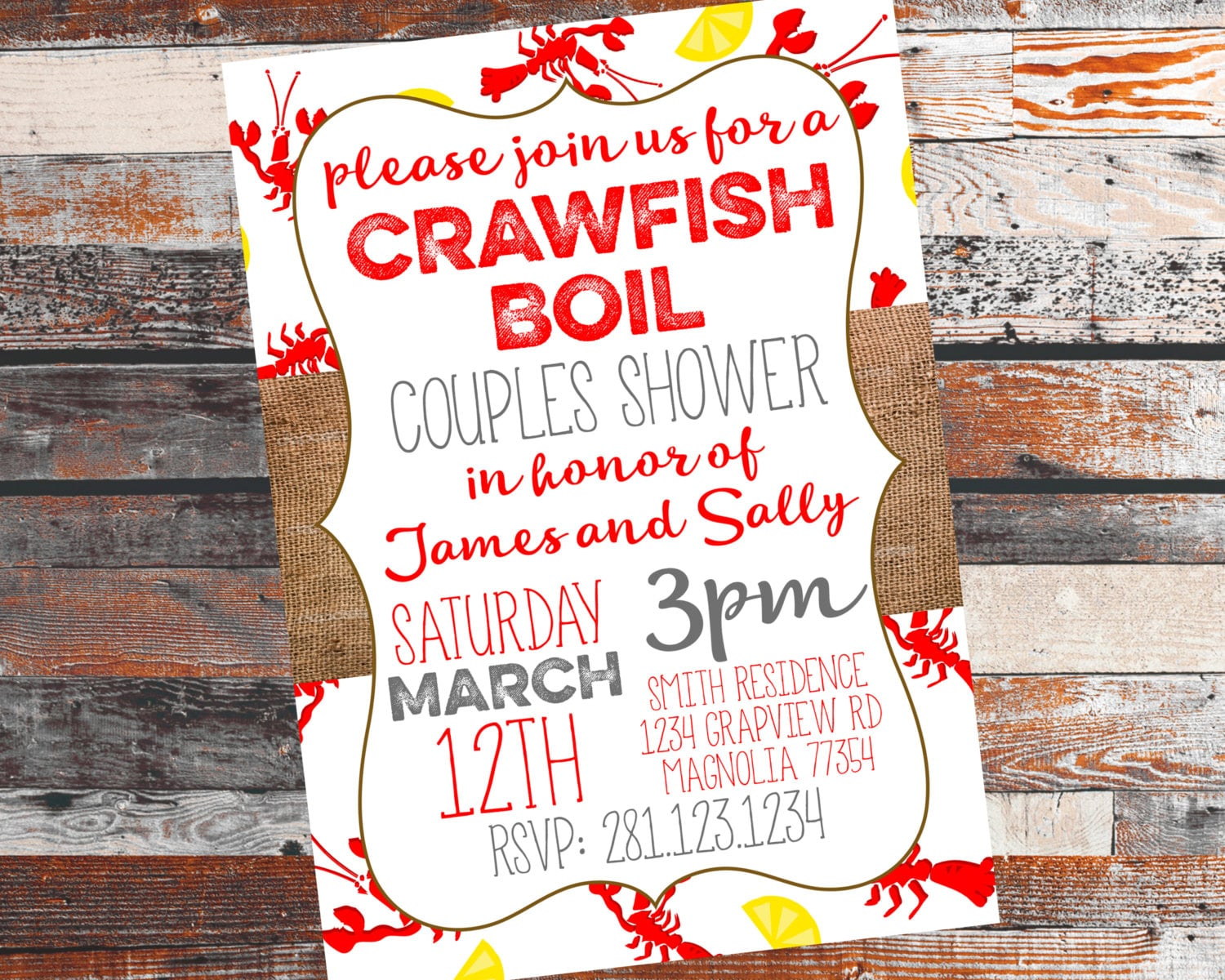 It's just a graphic of Crafty Crawfish Boil Invitations Free Printable
