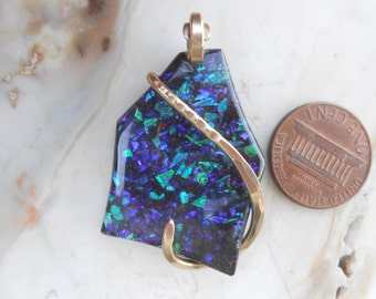 TERIFFIC- Slocum Opal Gold Wrapped Pendant