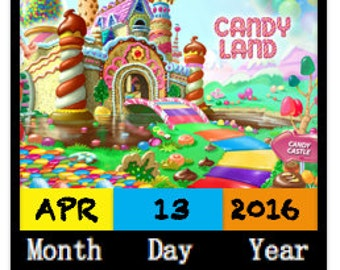 8 Pack CANDYLAND Personalized Birthday Party Invitations w/ Envelopes