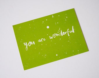 You are Wonderful Postcard Pack (5 Postcards)