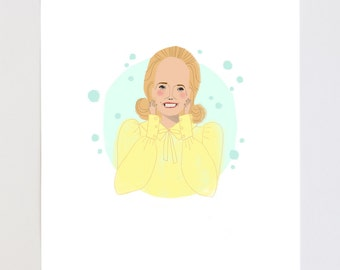 Dooneese Portrait Illustration Art Print