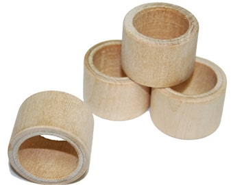 Smooth Wood Napkin Ring Holder, Wedding Napkin Rings, Unfinished Wood Napkin Ring Holder, DIY Wooden Napkin Rings, Table Setting Decor
