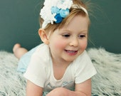 Snow Flake Headband  Infant to Young Girls