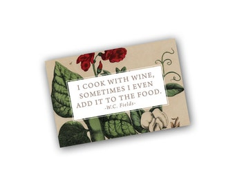 Cook with Wine Art Card