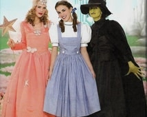 ON SALE Simplicity 4136 Wizard Of Oz Costumes, Dorothy, Glinda & Wicked Witch, Size 6-12, UNCUT