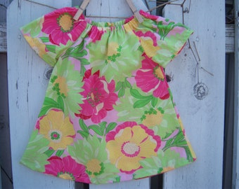 100% Cotton Baby Peasant Dress---Many Sizes Available, Custom Order