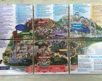 Disney California Adventure Map Coasters - Set of 6