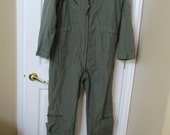 Vtg 1990's military overalls jumpsuit coveralls army green vintage jumpsuit 44R fire resistant size 44 regular