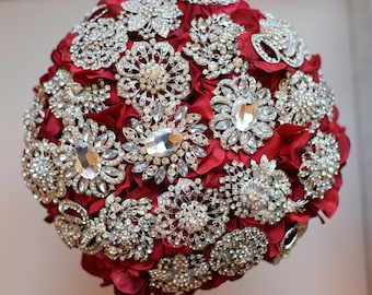 Brooch Bouquet Petal Brooch Bouquet 12 inch ready to ship