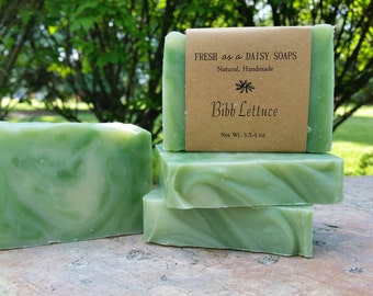 Bibb Lettuce, Natural Handmade Soap, Cold Process Soap, Vegan Soap