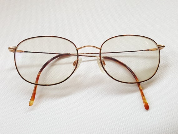vintage 80s altair thin metal tortoise shell eyeglasses