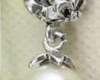 Mom Dangling Heart Charm Bead