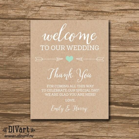 Rusitc Welcome Bag Tag, Wedding Favor Tags, Hang Tags, Thank You Tags ...