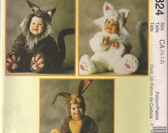 McCall's Costume Sewing Pattern 2324 - Toddler's Costumes - Bobcat, Cat, Bunny (.5-4)