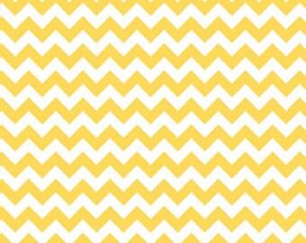 Riley Blake Fabric - 1 Metre Small Chevron in Yellow