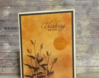 Thinking of you, Sympathy, Handmade card, Greeting card