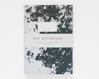 TWO NOTEBOOKS set VI in A5 / dark grey and maroon / blank notebook