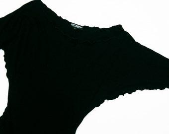 Vintage Betsey Johnson Lettuce Edge Self Belt Dress - Small