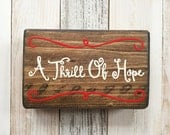 A Thrill Of Hope 3.5 x 5.5