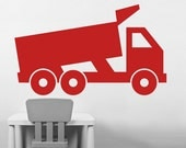 Wall Decal Dump Truck in Cardinal Red