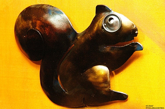 Charlene Squirrel Handmade Metal Wall Piece