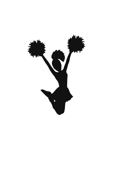 Cheerleader Svg For Silhoutte Or Cricut