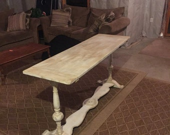SOLD Refinished and antiqued consile table