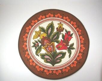 Vintage Centerpiece Placemat Walterscheid West Germany Table Linen, Scandinavian Design