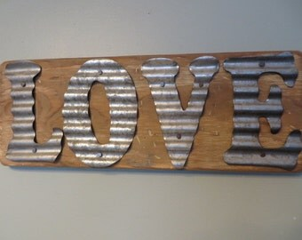 LOVE Sign for the Elegant Farmhouse, Cozy Cabin or Industrial Chic Loft