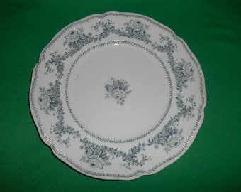 "One (1),  10 1/4"" Dinner Plate, from Johnson Bros., in the Raleigh (no Trim) Pattern."