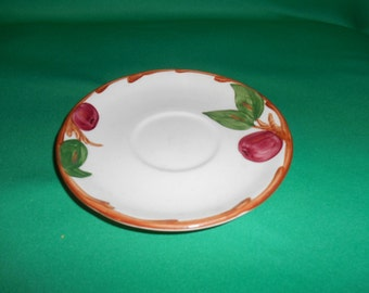 """One (1), 5 7/8"""" Saucer, from Franciscan, (USA), in the Apple Pattern."""