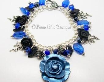 Fairy Charm Bracelet, Fae, Silver Fairy Charm Bracelet, Gift For Her