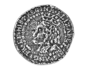 2 Elizabethan Penny 5/8 inch ( 15 mm ) Pewter Buttons