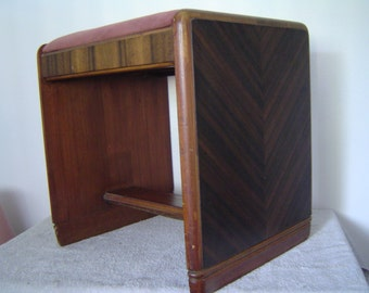 Antique Art Deco Waterfall Dresser Vanity Stool Bench , Local Pick-Up Metro Detroit Area Michigan OR Shipping Available