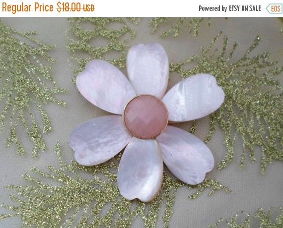 on sale mother of pearl daisy brooch light by. Black Bedroom Furniture Sets. Home Design Ideas