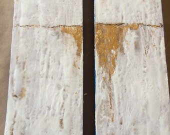 Raw Diptych Collection with Gold Leaf