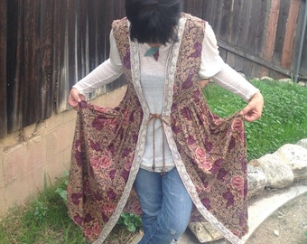 Boho gypsy jacket vest hippie