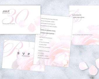 Wedding Stationery Suite: Pink Rose Theme